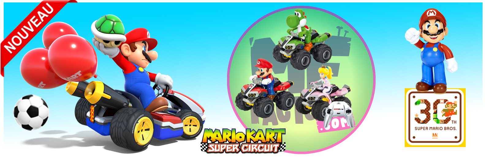 bandeau mario kart super circuit MF Factory
