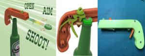 Modèle 3D Thingirverse ouvre bouteilles pistolet à capsules